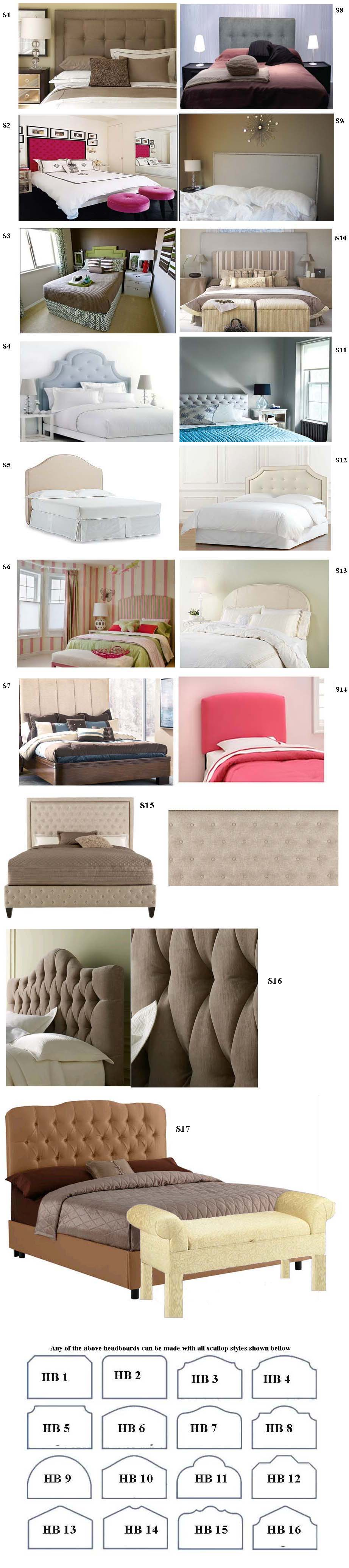 Headboard Diagrams