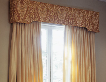 Upholstered Window Cornices