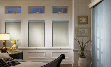 Sliding Panels and Roller Shades
