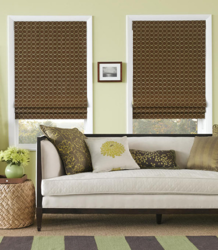 Tailored Roman Shades With Ribbs